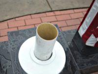 Vandals Cut Down Flagpole