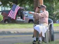 WWII Vet Waves Flag Every Day