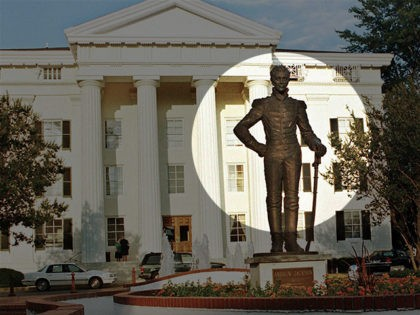 FILE - This June 10, 1999, file photograph shows the bronze statue of Andrew Jackson in front of Jackson, Miss., City Hall. The City Council voted 5-1, Tuesday, July 7, 2020, to relocate the bronze figure in a less prominent spot. It's the latest of many changes in the United …