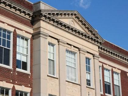 Catholic school in Washington DC. Holy Trinity Elementary School historic building.