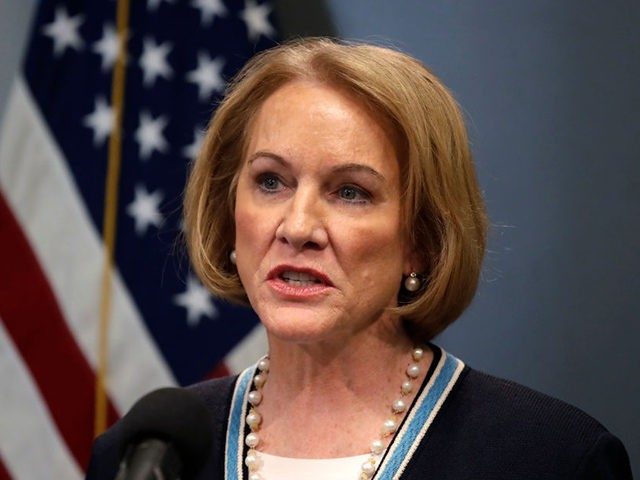 SEATTLE, WA - MARCH 16: Seattle Mayor Jenny Durkan speaks at a news conference about the coronavirus outbreak Monday, March 16, 2020, in Seattle. Gov. Jay Inslee ordered all bars, restaurants, entertainment and recreation facilities to temporarily close to fight the spread of COVID-19 in the state with by far …