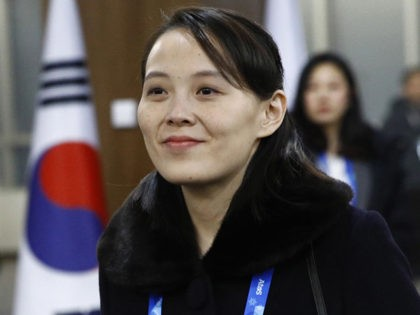 PYEONGCHANG-GUN, SOUTH KOREA - FEBRUARY 09: (EDITORS NOTE: Alternate crop of #916122914) Kim Yo Jong, sister of North Korean leader Kim Jong Un, arrives at the opening ceremony of the PyeongChang 2018 Winter Olympic Games at PyeongChang Olympic Stadium on February 9, 2018 in Pyeongchang-gun, South Korea. (Photo by Patrick …