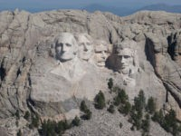KEYSTONE, SOUTH DAKOTA - JULY 02: The busts of U.S. presidents George Washington, Thomas Jefferson, Theodore Roosevelt and Abraham Lincoln tower over the Black Hills at Mount Rushmore National Monument on July 02, 2020 near Keystone, South Dakota. President Donald Trump is expected to visit the monument and speak before …