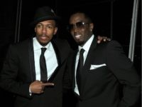 "NEW YORK - DECEMBER 09: Actor Nick Cannon (L) and Sean ""Diddy"" Combs attend City Of Hope's Music and Entertainment Industry Presents The Roast Of Stephen Hill at Jazz at Lincoln Center on December 9, 2010 in New York City. (Photo by Larry Busacca/Getty Images for City of Hope)"