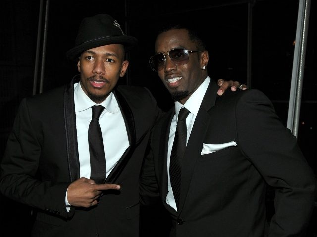 """NEW YORK - DECEMBER 09: Actor Nick Cannon (L) and Sean """"Diddy"""" Combs attend City Of Hope's Music and Entertainment Industry Presents The Roast Of Stephen Hill at Jazz at Lincoln Center on December 9, 2010 in New York City. (Photo by Larry Busacca/Getty Images for City of Hope)"""