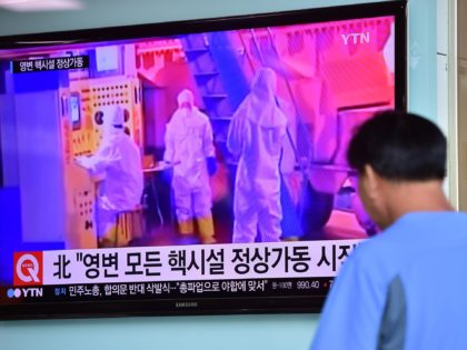 A man watches a news report at a railway station in Seoul on September 15, 2015, on the confirmation from North Korea that the nuclear reactor seen as the country's main source of weapons-grade plutonium had resumed normal operations, raising a further red flag amid growing signs the North may …