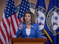 WASHINGTON, DC - JUNE 29: Speaker of the House Nancy Pelosi (D-CA) speaks at a press conference on Capitol Hill on June 29, 2020 in Washington, DC. Speaker Nancy Pelosi, D-Calif., on Thursday expressed outrage at Trump for what she said was his calling reports about Russian bounties on American …