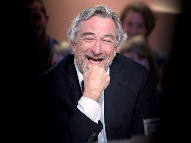 """US actor Robert De Niro takes part in the TV broadcast show """"Le Grand Journal"""" on Canal Plus channel on May 26, 2011 in Paris. AFP PHOTO / BERTRAND LANGLOIS (Photo credit should read BERTRAND LANGLOIS/AFP via Getty Images)"""