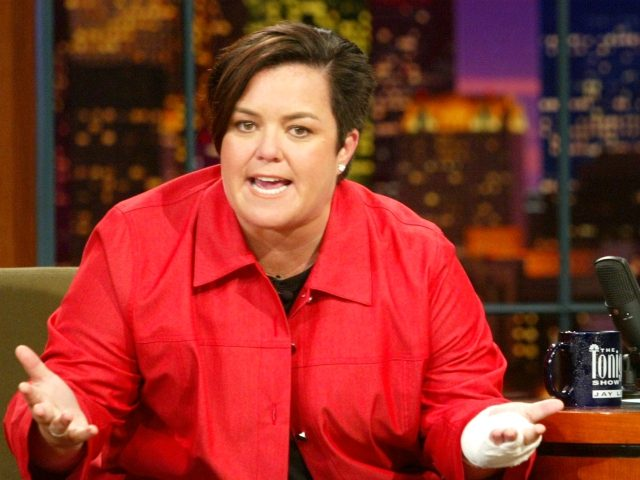 "Rosie O'Donnell at ""The Tonight Show with Jay Leno"" at the NBC Studios in Burbank, Ca. Monday, Sept. 23, 2002. Photo by Kevin Winter/ImageDirect."