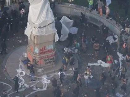statue protest