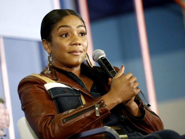 """NEW YORK, NY - JUNE 10: Tiffany Haddish speaks onstage during the 'The Last Laugh"""" panel day 2 of POPSUGAR Play/Ground on June 10, 2018 in New York City. (Photo by Brian Ach/Getty Images for POPSUGAR Play/Ground)"""