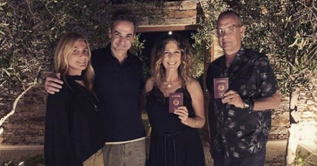 Tom Hanks and Rita Wilson Celebrate Becoming Greek Citizens