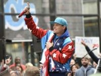 "NEW YORK, NY - APRIL 29: Vanilla Ice performs live on stage for NBC's ""Today"" at Rockefeller Plaza on April 29, 2016 in New York City. (Photo by Matthew Eisman/Getty Images)"