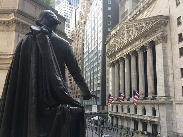 Photo by: STRF/STAR MAX/IPx 2020 6/29/20 The Dow Jones Industrial closed up 580 points today, in spite of growing numbers of Coronavirus cases in the U.S. (New York Stock Exchange, NYC)