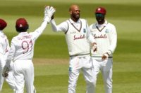 Chase strikes as England lose Burns in Windies Test
