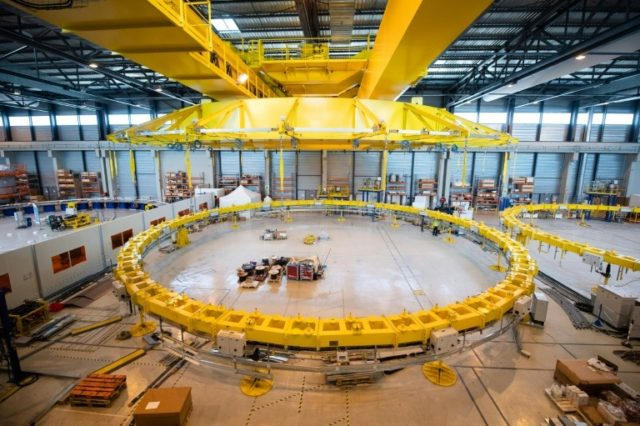 European Union marks assembly phase of world nuclear fusion project in France