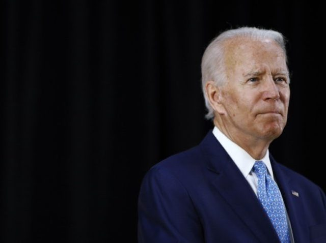 In this June 30, 2020, file photo Democratic presidential candidate, former Vice President Joe Biden speaks at Alexis Dupont High School in Wilmington, Del. (AP Photo/Patrick Semansky)