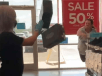 VIDEO: Woman Throws Shoe Boxes at Worker After Being Told to Wear Mask