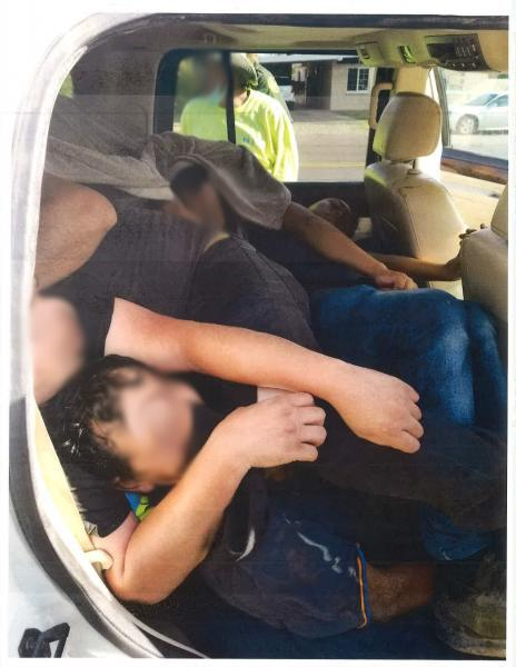 Tucson Sector Border Patrol agents found 34 migrants packed into the vehicles of two alleged human smugglers during separate traffic stops near the border. Despite the threat of the coronavirus, the migrants appear to be stacked like cordwood in the two vehicles. (Photo: U.S. Border Patrol/Tucson Sector)