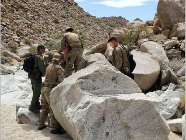 Border Patrol agents rescue a Mexican man suffering heat stroke in the Jacumba Mountains of Southern California. (Photo: U.S. Border Patrol/El Centro Sector)