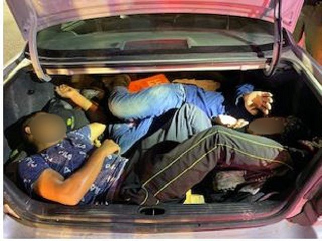 Border Patrol agents find illegal aliens packed in truck of passenger car in South Texas. (Photo: U.S. Border Patrol/Rio Grande Valley Sector)