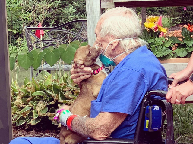 Talk about a #FeelGoodFriday! Navy Veteran Rudy Armstrong recently suffered a stroke while on his houseboat that he built in Oriental, NC where he lives with his best girl, a Chihuahua mix named Bubu. He and Bubu have a special bond and when Rudy couldn't get to his phone to …