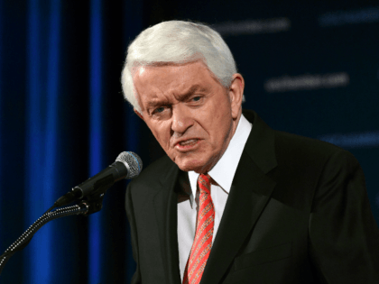 U.S. Chamber of Commerce President and Chief Executive Officer Thomas Donohue delivers his annual 'State of American Business' address at the Chamber of Commerce in Washington, Wednesday, Jan. 10, 2018. Donohue is calling on Congress to reform immigration laws in order to retain over one million immigrants currently allowed to …