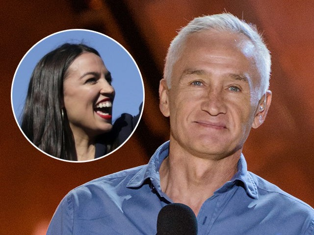 (INSET: Alexandria Ocasio-Cortez) Jorge Ramos speaks at RiseUp As One at Cross Border Xpress on Saturday, Oct. 15, 2016, in San Diego, Calif. (Photo by Alan Hess/Invision/AP)