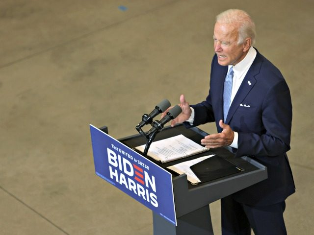 PITTSBURGH, PENNSYLVANIA - on August 31: Democratic presidential candidate former Vice President Joe Biden speaks during a campaign event at Mill 19 on August 31, 2020 in Pittsburgh, Pennsylvania. Biden criticized President Trump's response to protests in Kenosha, Wisconsin and Portland, Oregon. (Photo by Alex Wong/Getty Images)