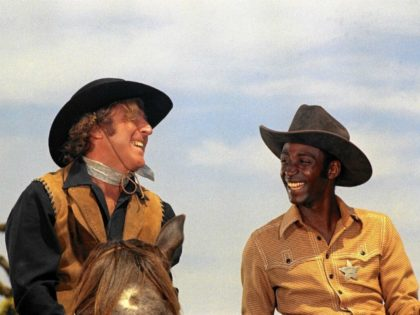 "Gene Wilder as The Waco Kid and Cleavon Little as Sheriff Bart in Mel Brooks' ""Blazing Saddles."" The director hosts a screening of the film May 22 at the Bushnell. (Warner Bros.)"