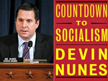 Devin Nunes and book cover Andrew Harrer-PoolGetty Images