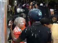 Video: Portland Rioters Throw Paint on Elderly Woman's Face