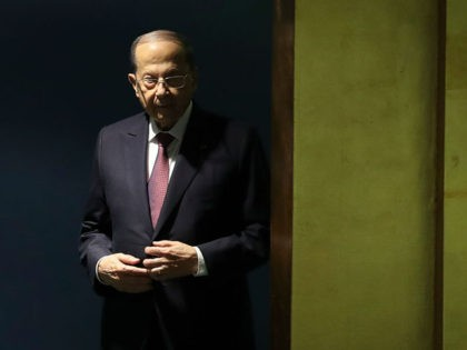 NEW YORK, NY - SEPTEMBER 25: President of Lebanon Michel Aoun arrives to address the United Nations General Assembly at UN headquarters on September 25, 2019 in New York City. World leaders from across the globe are gathered at the 74th session of the UN General Assembly, amid crises ranging …