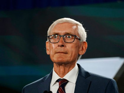 MILWAUKEE, WISCONSIN - AUGUST 19: Wisconsin Governor Tony Evers awaits to address the virtual Democratic National Convention, at the Wisconsin Center on August 19, 2020 in Milwaukee, Wisconsin. The convention, which was once expected to draw 50,000 people to Milwaukee, Wisconsin, is now taking place virtually due to the coronavirus …