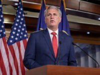 WASHINGTON, DC - JULY 02: U.S. House Minority Leader Rep. Kevin McCarthy (R-CA) speaks at a press conference on Capitol Hill on July 02, 2020 in Washington, DC. (Photo by Tasos Katopodis/Getty Images)