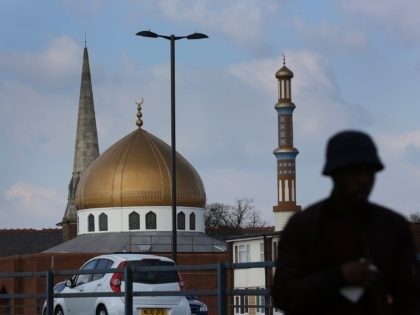 BIRMINGHAM, ENGLAND - MARCH 23: A mosque stands next to a church in Lozells on March 23, 2017 in Birmingham, England. After yesterday's London terror attack, police have made a number of arrests and raided addresses in Birmingham and other parts of the country. British born attacker Khalid Masood, from …
