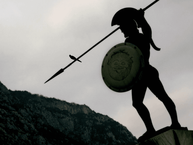 Thermopylae, GREECE: The statue of King Leonidas of ancient Sparta stands over the battlefield of Thermopylae, some 170 kilometres north of Athens in central Greece, at sunrise 09 March 2007. The Battle of Thermopylae where 300 Spartans under Leonidas faced overwhelming Persian odds in 480 BCE is the topic of …