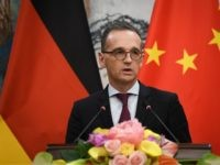 Germany's Foreign Minister Heiko Maas speaks at a press conference with China's Foreign Minister Wang Yi (not in picture) at the Diaoyutai State Guesthouse in Beijing on November 13, 2018. (Photo by WANG Zhao / AFP) (Photo credit should read WANG ZHAO/AFP via Getty Images)