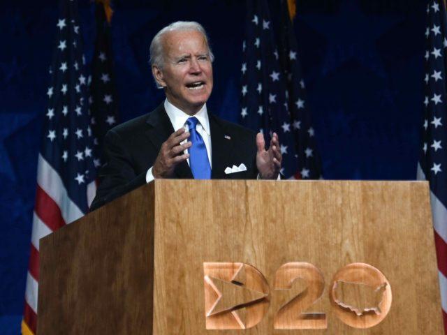 Joe Biden DNC (Olivier Douliery / AFP / Getty)