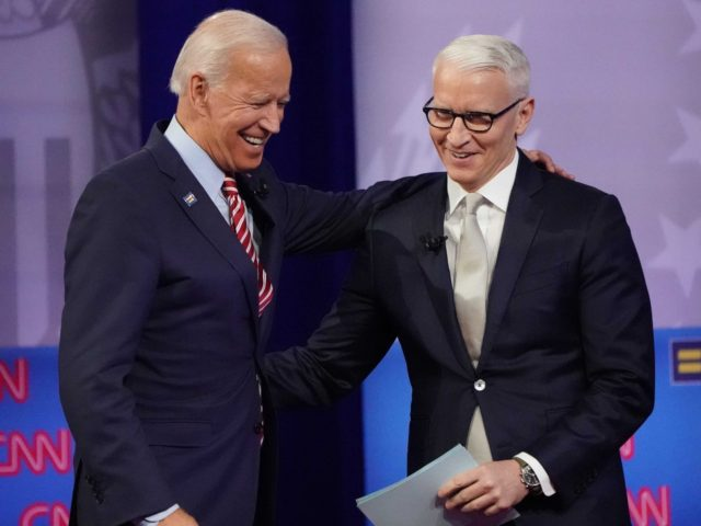 Joe Biden and Anderson Cooper (Mario Tama / Getty)