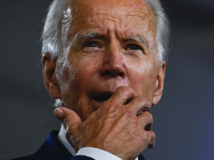 Joe Biden shocked face (Andrew Caballero-Reynolds / Getty)