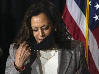 Kamala Harris mask (Carolyn Kaster / Associated Press)