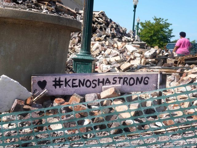 Kenosha Strong rubble (Scott Olson / Getty)