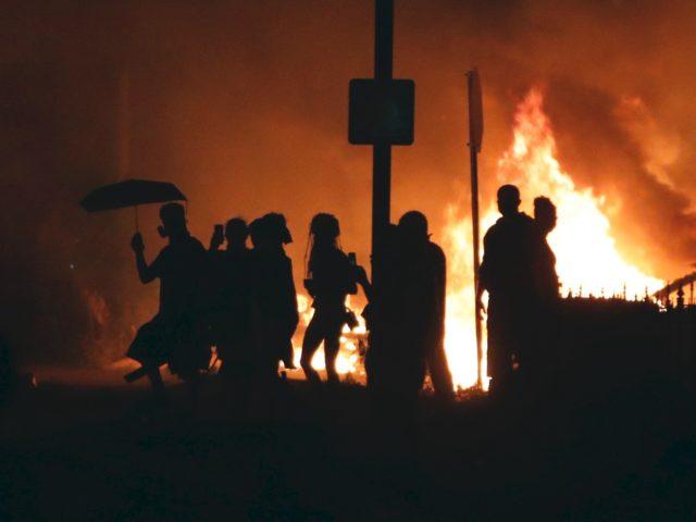 Kenosha riots (Kamil Krzaczynski / AFP / Getty)