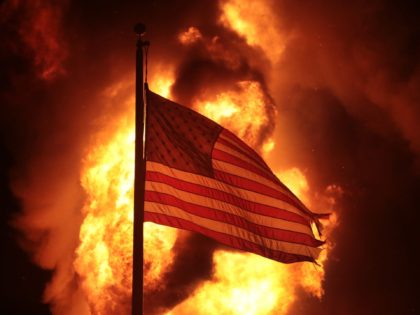 Kenosha riots flag (Scott Olson / Getty)