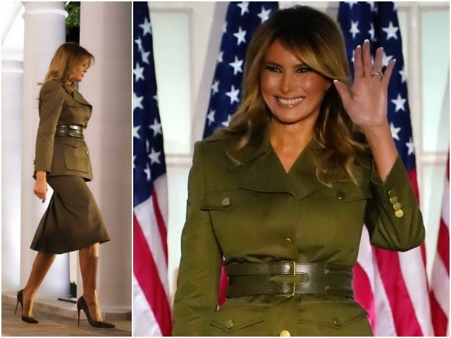 First Lady Melania Trump stole the show on the second …