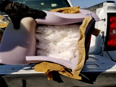 Tucson Sector Border Patrol agents find methamphetamine being carried by three drug smuggling illegal aliens. (Photo: U.S. Border Patrol/Tucson Sector)