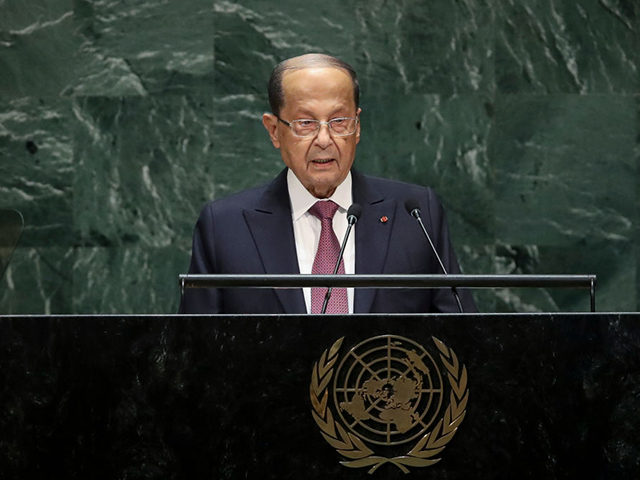 NEW YORK, NY - SEPTEMBER 25: President of Lebanon Michel Aoun addresses the United Nations General Assembly at UN headquarters on September 25, 2019 in New York City. World leaders from across the globe are gathered at the 74th session of the UN General Assembly, amid crises ranging from climate …
