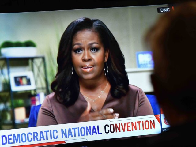 Michelle Obama DNC (Chris Delmas / AFP / Getty)