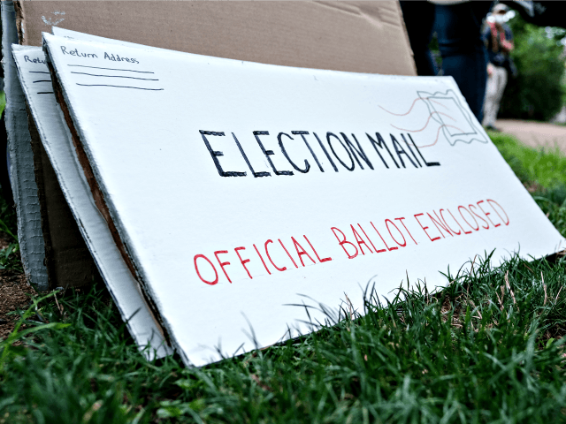 WASHINGTON, DC - AUGUST 15: Protest material that resemble mail-in election ballots are seen as demonstrators gather on Kalorama Park to protest President Donald Trump donor and current U.S. Postmaster General Louis Dejoy on August 15, 2020 in Washington, DC. The protests are in response to a recent statement by …